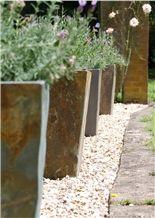 Discount Rust Beige Slate Planter Exterior Garden Flower Pot Flower Stand Planter Boxes Planter Pots Exterior Planters Outdoor Planters Gofar
