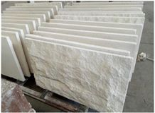 Limra White Limestone Split Face Mushroom Stone Wall Cladding,Bianco Classic Lymra Coral Stone Mushroom Panel for Villa Walling