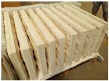 Portugal Beige Classico Crema Limestone Mushroom Stone,Split Face Villa Building Wall Cladding Limestone Wall Tiles Covering