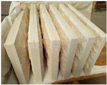Portugal Beige Classico Crema Limestone Mushroom Stone Split Face, Villa Building Wall Cladding, Limestone Wall Tiles Covering