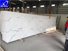 Artificial Luna Quartz Stone Slabs,Super White Quartz Stone for Countertop,Kitchen Top, Bathroom Top,Vanity Top,Service Top,Office Top,Furniture Top