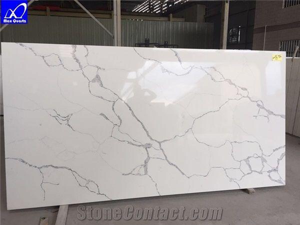 Quartz Calacatta Statuario Stone Slabs Calacatta White