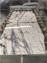 Afyon Violet Marble Slabs & Tiles, Lilac White Marble for Floor/Wall Tiles