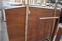Polished Imperial Wood Vein Marble Slabs, Red Wooden Line Marble Slab