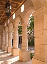 Coralina Gold Coral Stone Column and Arches