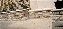 Colebrook Sandstone Wall and Capitals