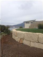 Buckland Sandstone Retaining Wall Building Blocks