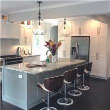 Mascavo Leather Quartzite Kitchen Island Countertop