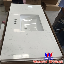 Fast Delivery Prefab Chinese Quartz Countertops Cheap Prefab Vanity Top