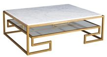 Modern Marble and Wrought Iron Dinner Table,Restaurant Table and Sets, Coffee Table
