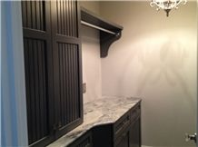 Rakoczy-Bieber Laundry Room Top with Calacatta Cielo Marble