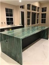 Emerald Green Quartzite Polished Island Top