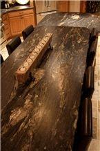 Black Fusion Granite Kitchen Countertops