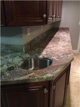 Hawaiian Bordeaux Granite Kitchen Bench Top