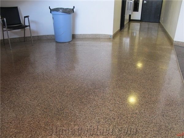 Epoxy Terrazzo Floor Restoration Polishing From United