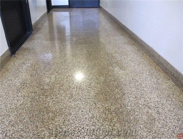 Epoxy Terrazzo Floor Restoration Polishing From United
