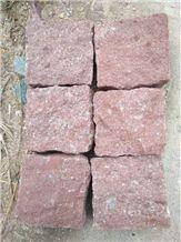 Dayang Red, Dayang Red Granite Cobble, Putian Red Granite, Walkway Floor Paving Stone, Chinese Dark Red Granite, Pavers