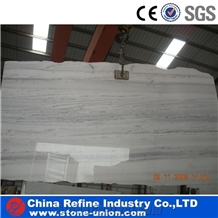 Best Price Straight Line Wood Grain White Marble