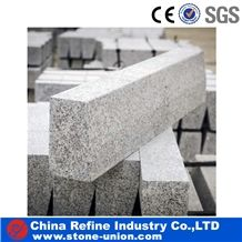 Chinese G341 Granite Kerb Stone, China Cheap Grey Granite Kerbstone,,Lowest Price Granite,Rough Picked,Flamed Paving Curbs, Road Stone for Building