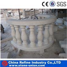 Column Pillar Building Material, White Marble Roman Columns by Handcarved,Grey Granite Garden Pillars,Railing Set,Handdrail Column,Garden Pillar