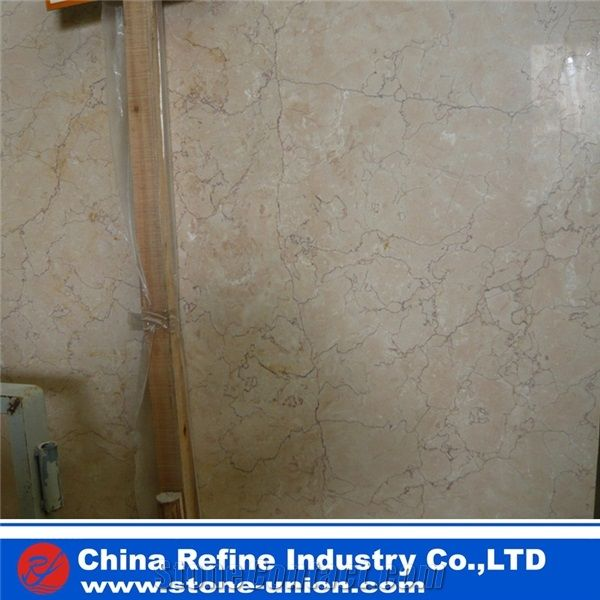 Cream Rose Marble Slabs Tiles China