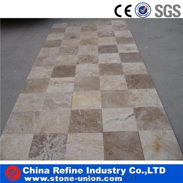 Mix Colors Travertine Brown Travertine Tiles Cut To Size For