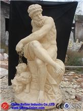 Natural Beige Limestone Sculpture Garden
