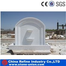 White Marble Water Feature Fountain,China White Marble Outdoor Natural Stone Garden Water Fountains,Marble Garden Landscaping Fountain