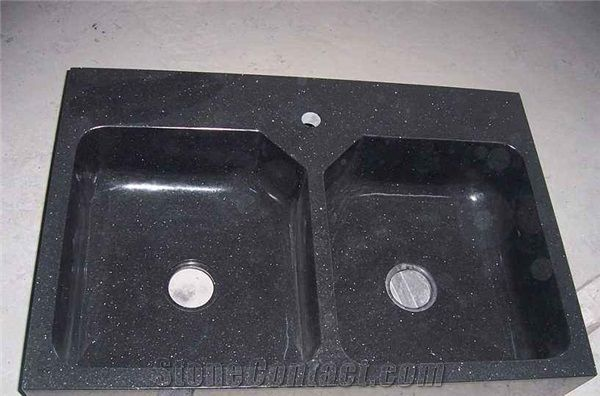 Big Galaxy Medium Galaxy Black Galaxy C Kitchen Sink Basins Kitchen Worktops India Black Granite Black Galaxy Granite Kitchen Countertops From China Stonecontact Com