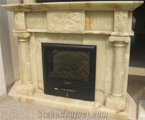 Onyx Green Fireplace Decorating Fireplace Insert Natural Stone