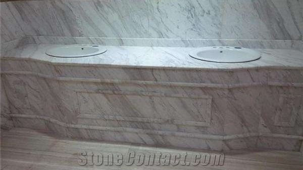 White Volakas Marble Countertops Bathroom Countertops Bathroom Vanity Tops Bathroom Solid