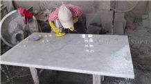 Bianco Carrara White Marble Interior Rectangle Tabletop,Modern Style Coffee Table Polished Good Quality