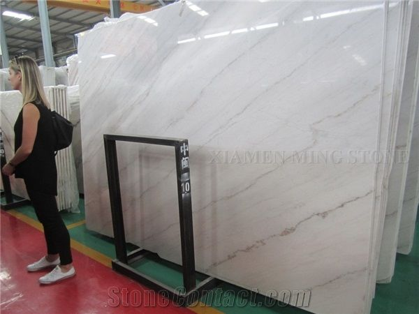 Elegant Guangxi White Polished Marble SlabMachine Cut Panel Tile - How to polish marble floors by machine