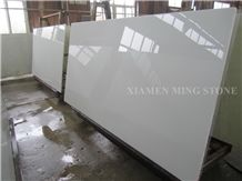 Solid Surface Artificial Thassos White Stone Crystallized Glass Nano for Interior Wall Cladding,Floor Covering Pattern,Machine Cut Project Show