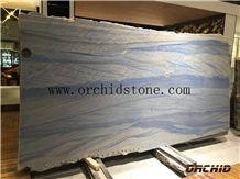 Polished Luxury Azul Macaubas Quartzite,Azul Imperial Stone,Blue Tropical,Blue Sky,Grand Skylight Blue Quartzite Slabs & Tiles for Flooring Tiles