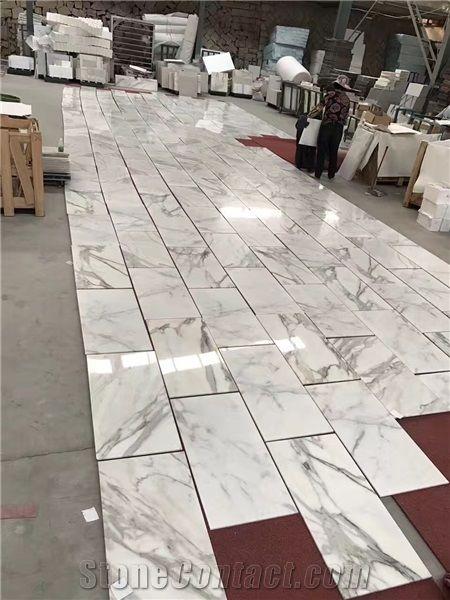 Calacatta Marble Tiles White