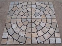 Cubic Stone Paver Stone for Exterior Pattern Floor Decoration, Slate Mosaic, Cobbe Stone