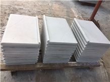 White Quartzite Coping Bullnose for Swimming Pool Cut to Size Tiles