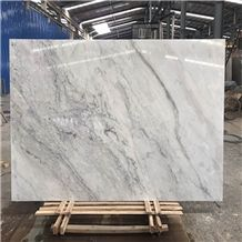 China Cheap Volakas White Marble with Black Veins,Wall Cladding,Bathroom,Hotel,Paving Tiles,Big Slab,Project,Buliding