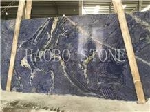 High Polished Customized Cut to Size Natural Stone Factory Thickness 2cm and 3cm Available Exotic Blue Quartzite Slab&Tile for Indoor Decoration