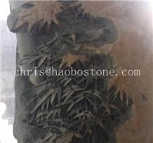 High Quality China Quarry Customize Gorgeous Bamboo Basalt Stone Sculpture Decoration for Interior,Natural Stone Statue, Wholesale Cheap Factory Price
