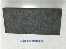 China Black Basalt Polished/Honed/Flamed Slab/Tiles for Wall Floor