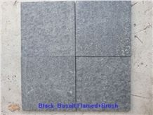 Flamed Mongolia Black Basalt Tile and Small Slab