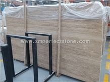 Travertine Slabs, Denizli Beige Travertine Tiles, Flooring Tiles