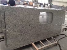 Brazil Granite Countertops-Galaxy White Vanity Tops for Kitchen, Island Worktops in Stadnard Size, High Polished Good Edges Finished Factory