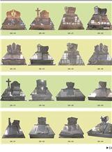 China Black, Shanxi Black Granite Mounment-Poland Tombstone-Europe Headstone-Grave Marker-Cross Design-Romania Style Monuments-90x70x6cm 80x60x6cm