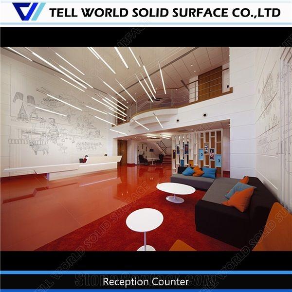 Eco Quartz Stone Multi Colors 30mm 40mm Thick Reception Counter