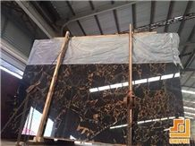 China Athens Quarry Polished Portoro Gold Marble,Vendome Noir Stone Big Slab Be Used for Building Material,Wall Cladding Paneling Cover,Flooring Coper