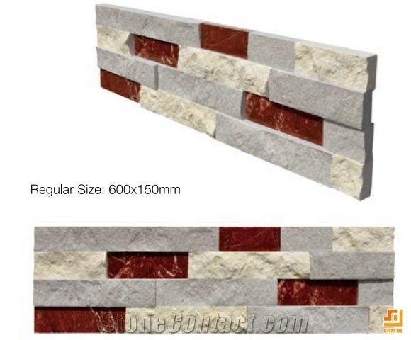 Professional Suppliers Interior Deco Wall Cladding Culture Stone,Multicolor  Natural Slate Wall Panels,Coner Stone   Xiamen Shiyue Stone Co.,Ltd
