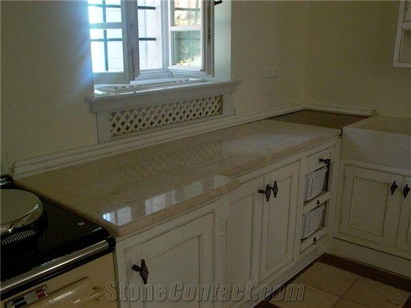 Ebur Limestone Countertops, Honed-Polished from Croatia ...